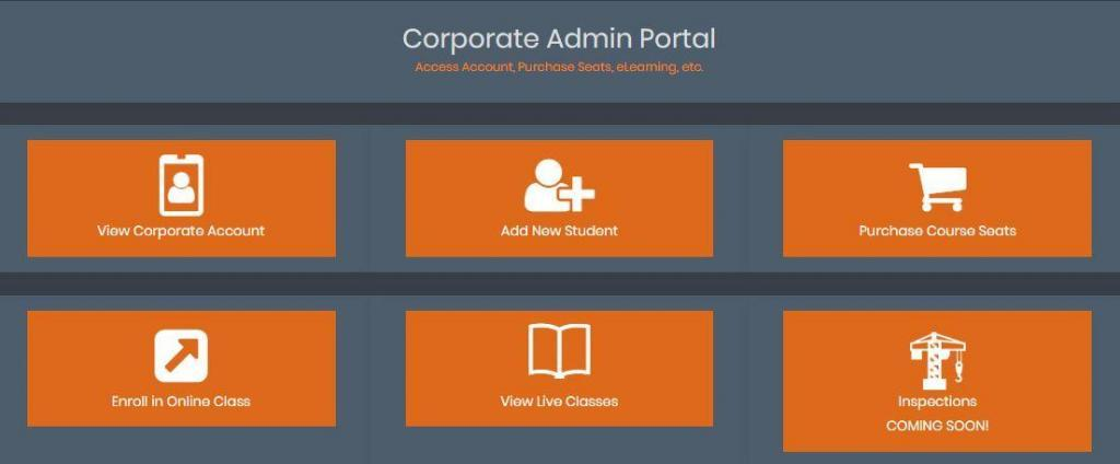 Customer Portal Company Account Dashboard