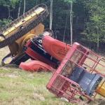 France telescopic boom overturn September 2020 accident