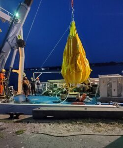 waterbag at night heavy equipment inspection