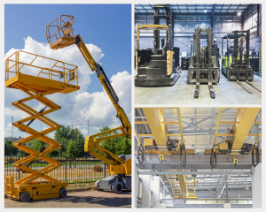 MEWPs, overhead cranes, and forklifts; hoisting training for industry